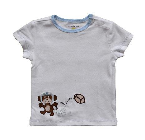 Camiseta Bebê com Macaquinho Rugby