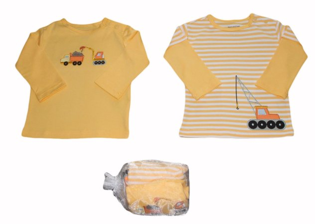 Conjunto Bebê com 2 Camisetas Manga Longa Tratorzinho