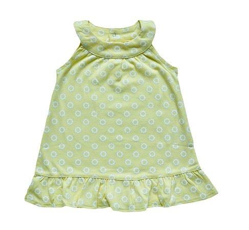 Vestido Bebê Amarelinho com Florzinhas