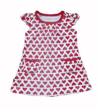 Vestido Bebê com Corações
