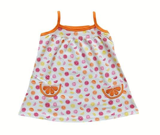 Vestido Bebê com Laranjinhas