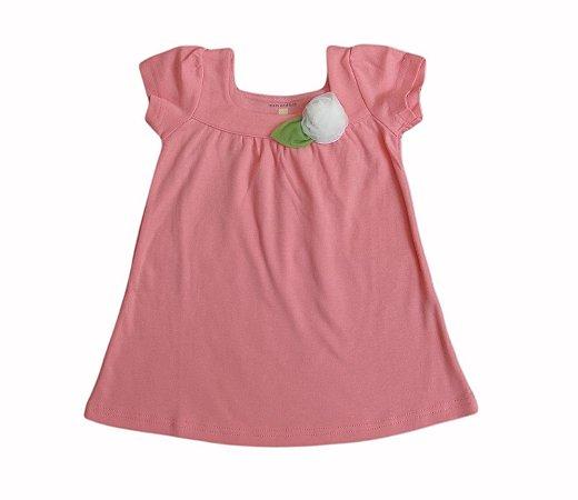 Vestido Bebê com Florzinha