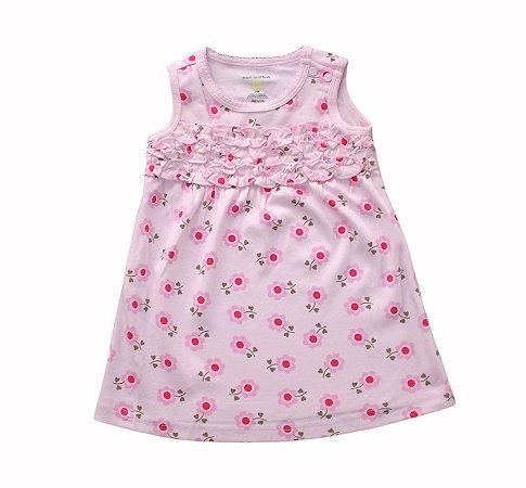 Vestido Bebê Rosa com Florzinhas