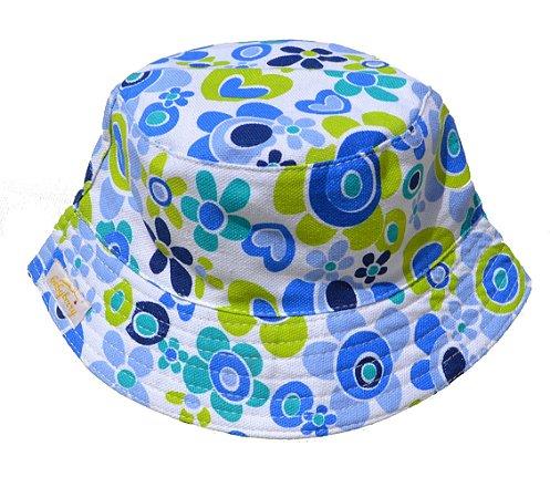 Chapéu Bebê Azul Florido