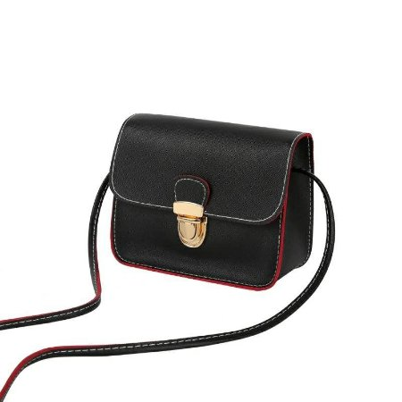 Bolsa Clutch Vermelho com Preto