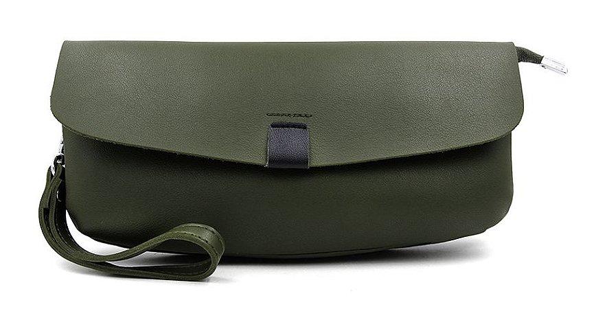 Bolsa Clutch Verde Militar