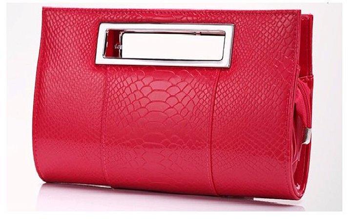 b69eabd5d Bolsa Clutch Vermelha Com Prata - La cumadre | Paixão por ser MULHER