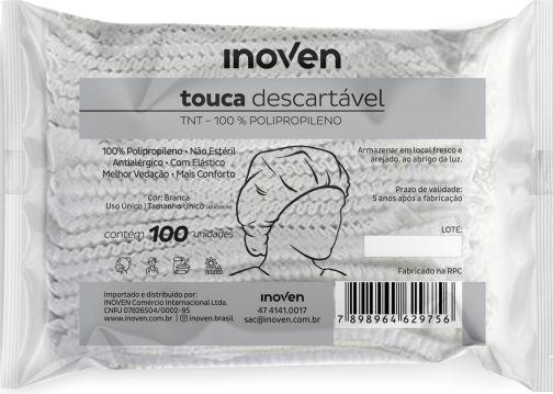 TOUCA DESCARTÁVEL EM TNT INOVEN - 100 unidades