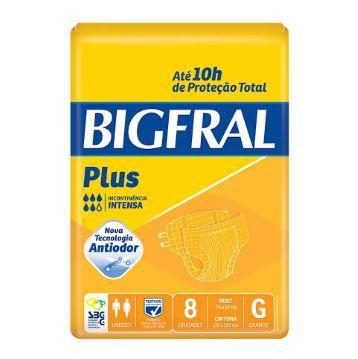 FRALDA GERIÁTRICA BIGFRAL PLUS - tam. G - 8 unid.