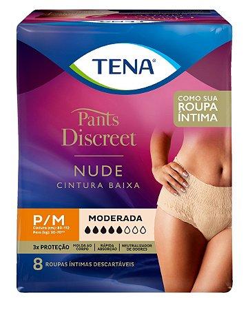 ROUPA ÍNTIMA TENA PANTS DISCREET NUDE - tam. P/M - 8 unid.