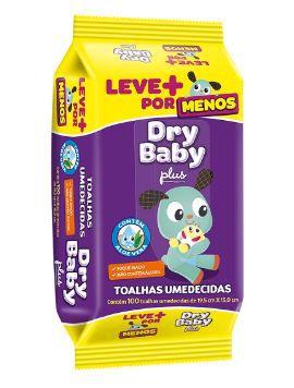 TOALHA UMEDECIDA DRY BABY - TAMANHO ÚNICO - 100 UNIDADES