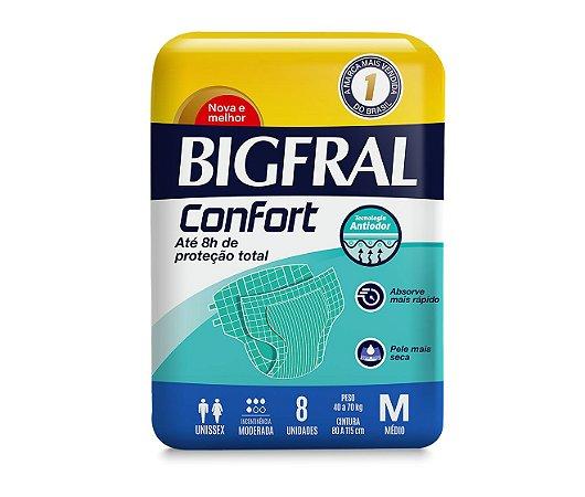 FRALDA GERIÁTRICA BIGFRAL CONFORT - 8 unid