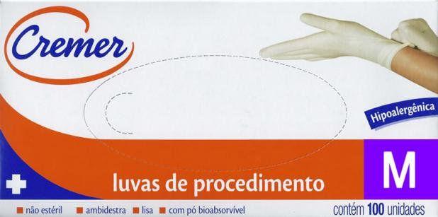LUVA DE LÁTEX COM PÓ CREMER