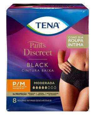 ROUPA ÍNTIMA TENA PANTS DISCREET BLACK - 8 unid.