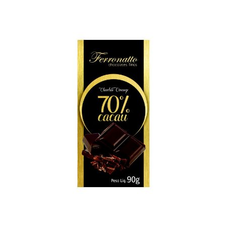 Barra de Chocolate 70% Cacau