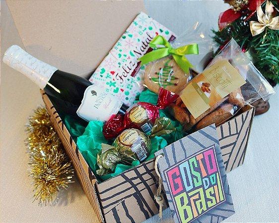 Kit Natal com Chocolates e Espumante Moscatel (187ml)