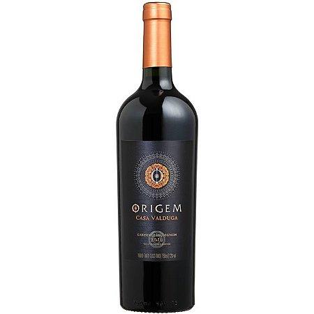 Vinho Casa Valduga Origem Cabernet Sauvignon 750ml - Caixa com 06 unidades
