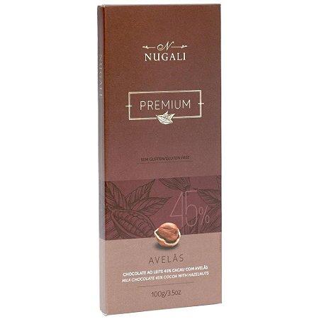 Tablete Chocolate ao Leite com Avelãs 100g