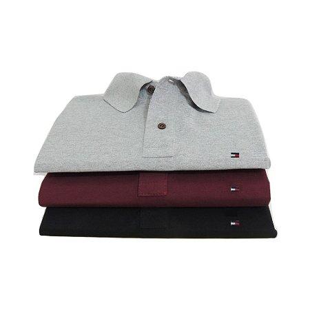 Kit Com 3 Camisa Polo Manga Curta Tommy