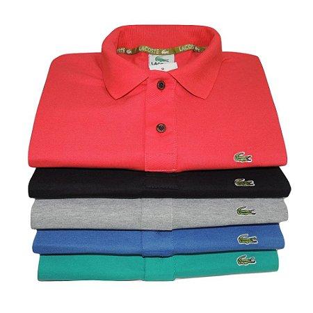 Kit Com 10 Camisa Polo Manga Curta Lacoste