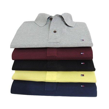 Kit Com 10 Camisa Polo Manga Curta Tommy