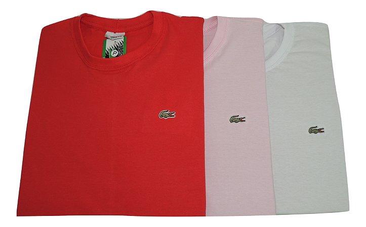 Kit Com 10 Camisetas Básica Manga Curta Lacoste