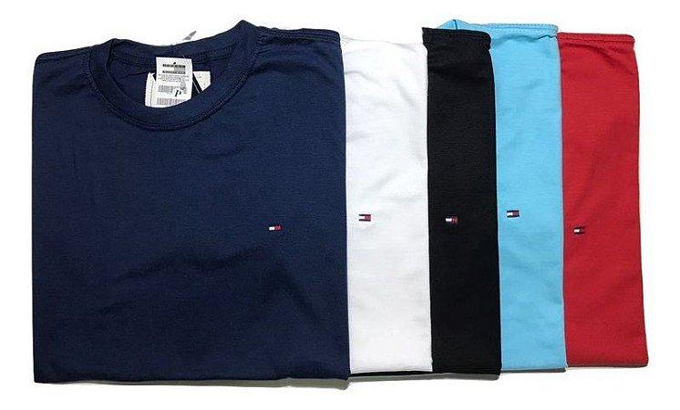 Kit Com 10 Camisetas Básica Manga Curta Tommy