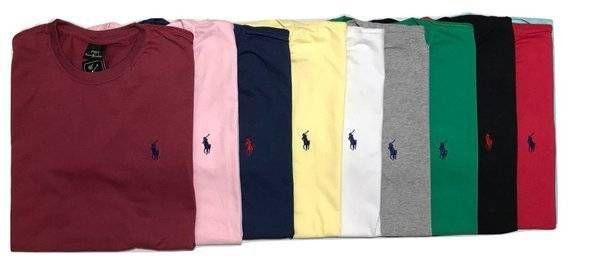 Kit Com 10 Camisetas Básica Manga Curta Polo Ralph Lauren