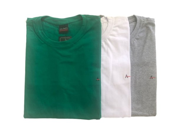 Kit Com 3 Camisetas Básica Manga Curta Aramis
