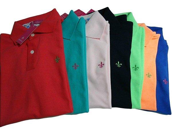 Kit Com 3 Camisa Polo Manga Curta Dudalina
