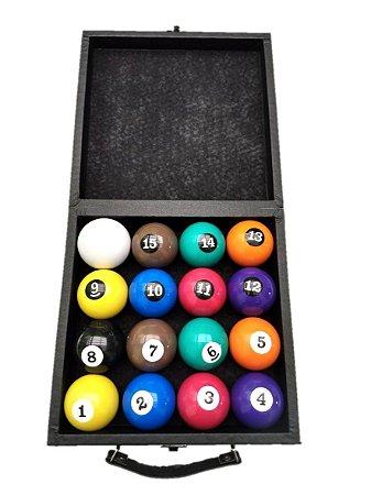 Bolas numeradas 54mm para Sinuca bilhar com estojo - MAXXI TACOS 2f52a71a903a4