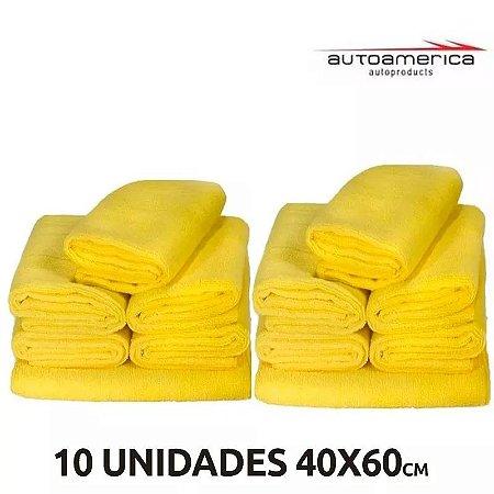 kit 10 unidades de microfibras 40x60 - Autoamerica
