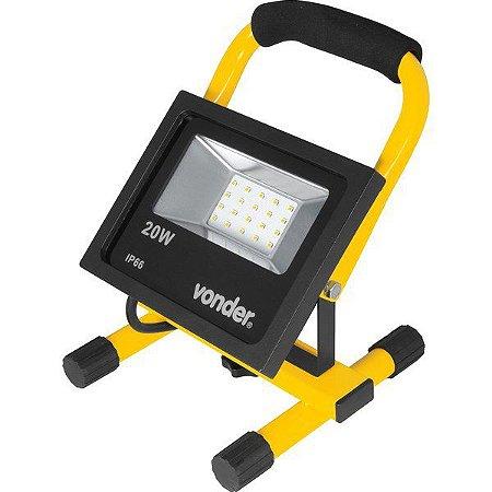 Lanterna Refletora com Suporte - 20 W VONDER