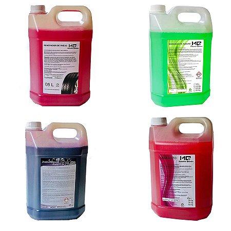 Combo Lava Rápido Básico - Shampoo - Desengraxante - Desincrustante - Pretinho