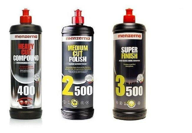 Combo Polidores Menzerna (3 Produtos - 1000ml)