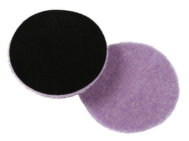 Boina Hibrida de Lã Roxa 6'' Sem  Interface Autoamerica Corte e Lustro