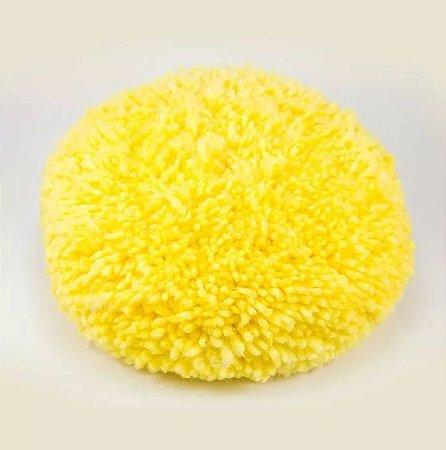 Boina de Lã Dupla Face Amarela 8'' - New Polish