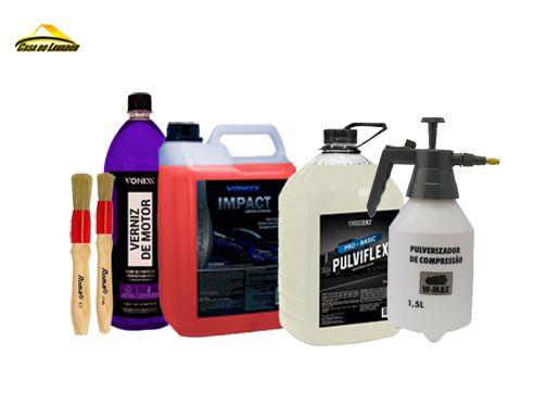 Kit Limpeza de Motor e Chassis Vonixx Promoção C/Pulverizador