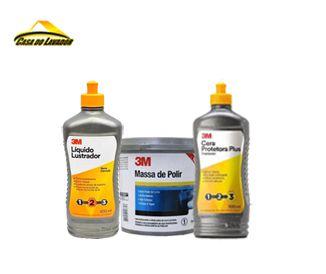 Kit Massa de Polir 3M Etapa 1,2,3 Promoção
