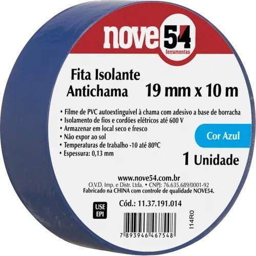 Fita Isolante Azul 10M Nove54