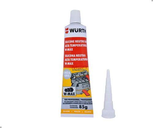 Silicone Neutro de Alta Temperatura W-Max Wurth Cinza Gris  - 60 G