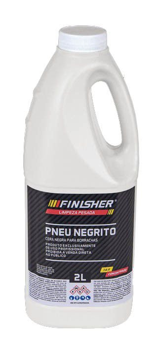 Pneu Negrito Cera Negra Para Borrachas - 2L - Finisher