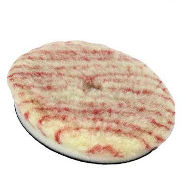 """Boina de Lã Pirulito com Interface para Rotativa Corte Listra Vermelha / Amarela 3,5"""" Lincoln"""