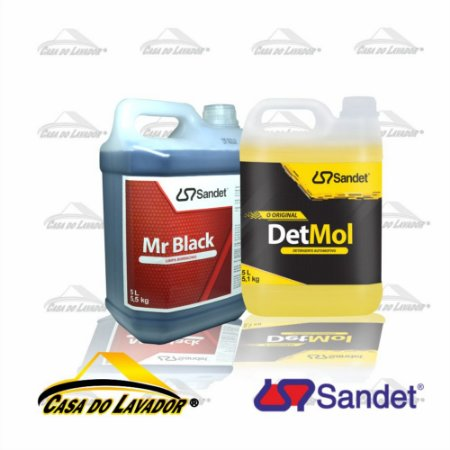 Kit Limpeza Automotiva e Pneus Sandet 5 Litros