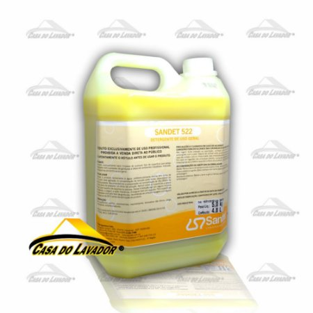 Detergente Tipo Sabão Mecânico para Limpeza Geral Sandet 522 - 5 Litros