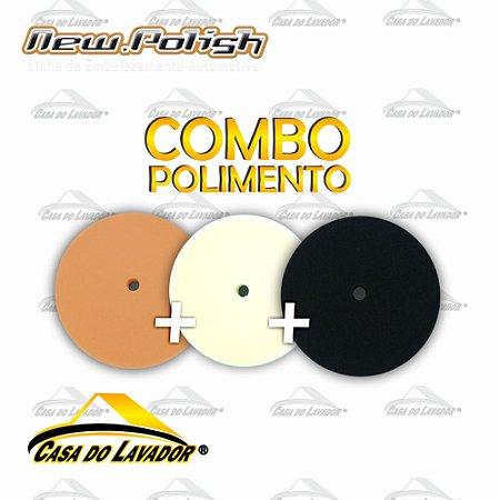 Kit 3 Boinas de Espumas Para Polimento 6,5'' - New Polish