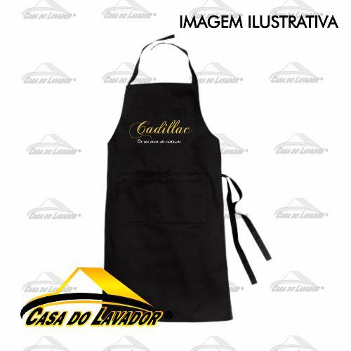 Avental em Tecido Brim - PRETO Cadillac