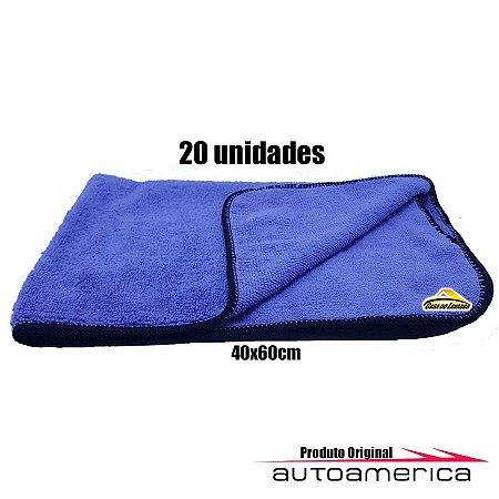 20 Flanelas de Microfibra Roxa Low Cost 40x60cm Autoamerica