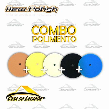 5 Boinas de Espumas Para Polimento Completo 7,5'' New Polish