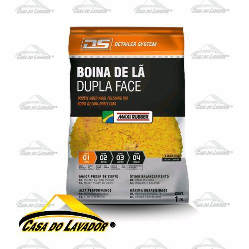 Maxi Boina de Lã Dupla Face Amarela Maxi Rubber